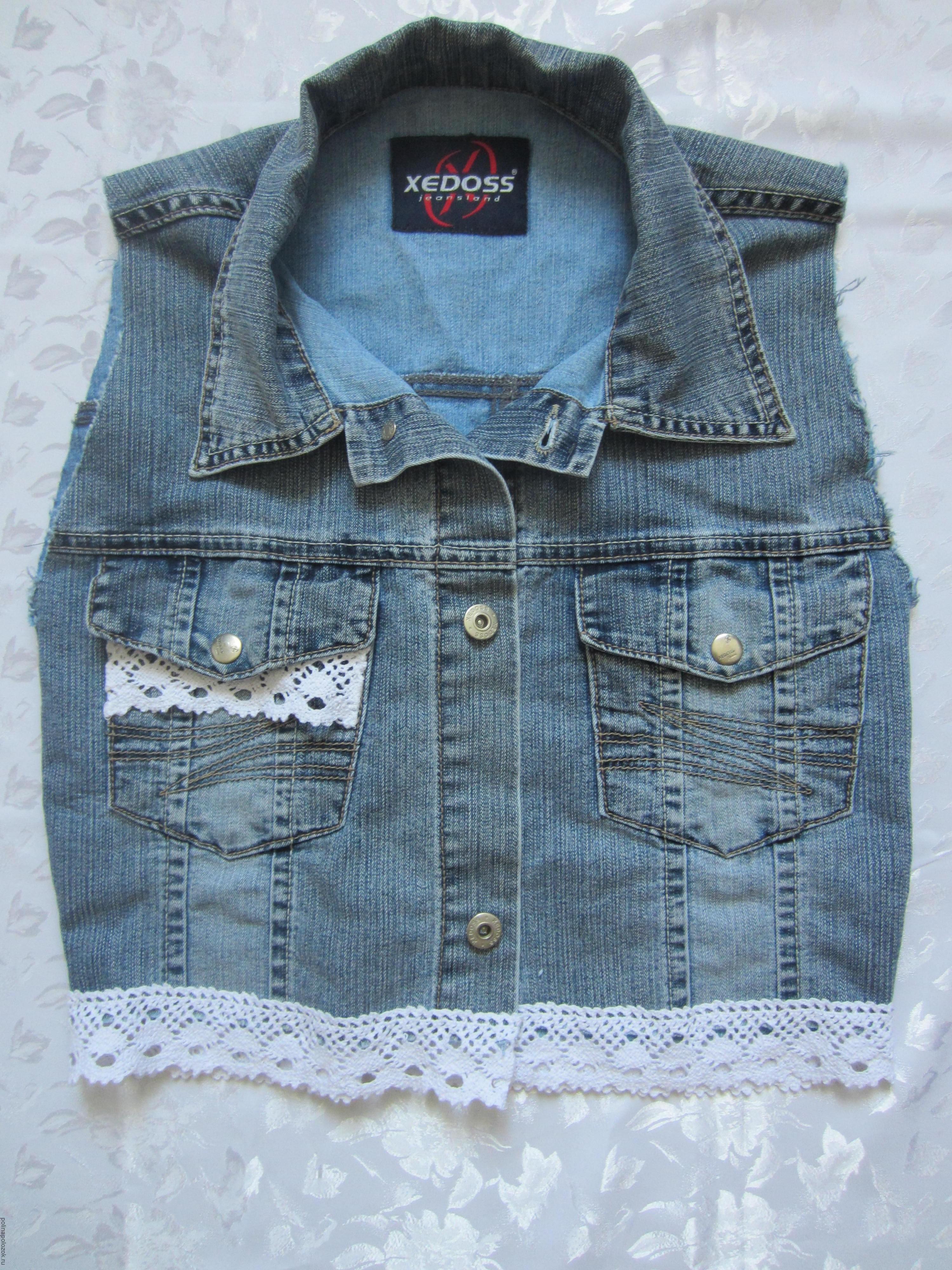 Джинсовые жилетки для девочек своими руками