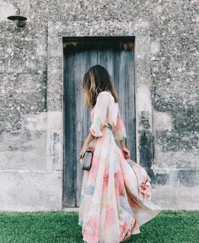 Скромное длинное платье